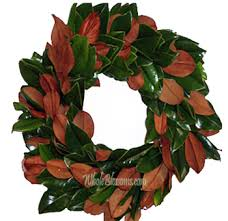 fresh wholesale magnolia leaf wreath for sale