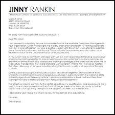 specimen of cover letter for job application dairy farm manager cover letter sample livecareer