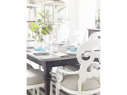 coastal living dining room rectangular leg table 411 21 31