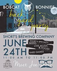 bobcat bonnie u0027s back yard party short u0027s brewing company