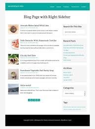 content with right sidebar on whitespace pro theme genesis developer