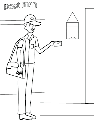 mailman hat coloring page community helpers coloring page community helpers coloring pages