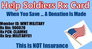 help soldiers rx card free prescription discount card