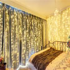 Curtain Lights Amazon by Amazon Com Naisidier Window Curtain String Lights Starry Fairy