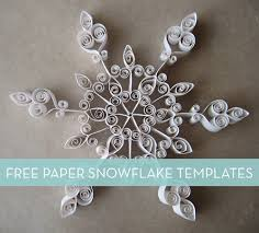 free paper snowflake templates curbly
