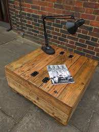 Rustic Storage Coffee Table Handmade Rustic Storage Coffee Table With Opening Lid