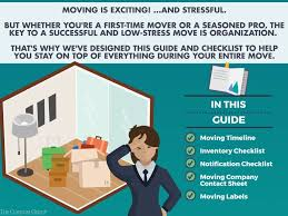 moving tips handy guides and checklists the connor group