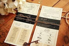 Wedding Program Paper Wedding Programs Infographic Black U0026 Gold Vintage Glam