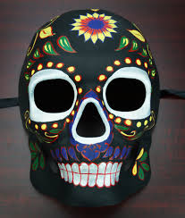 day of the dead masks of the dead mask black