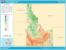 physical map of idaho map of idaho lakes streams and rivers