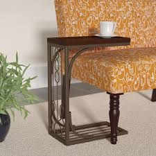 tray top end table darby home co josephine tray top end table in brown and burnished