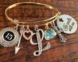 baptism charm bracelet baptism gifts etsy