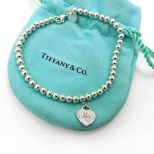 silver bead necklace tiffany images Tiffany beaded mom heart charm bracelet the jewelry box jpg
