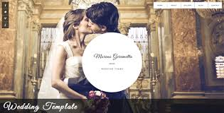 the best wedding websites 5 best responsive wedding website templates designmaz