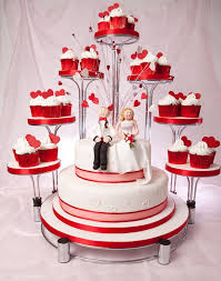 91 Best Red Themed Wedding Cakes Images On Pinterest Red Themed