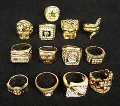 gold rings old images 3 piece gold 80 39 s old school rapper rings pimp iced out costume jpg
