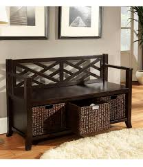 Entryway Storage Furniture by Fascinating Rustic Entryway Bench With Open Shelves Plus Rattan