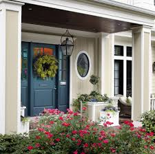 i did paint the front door this color it look great against the