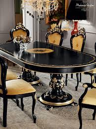 classic dining table wooden oval extending villa venezia