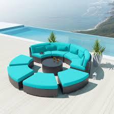 modenzi deluxe 9r darkbrown wicker outdoor sofa patio furniture