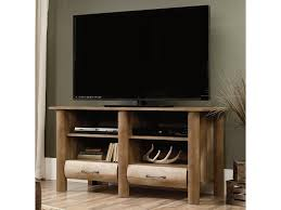 Sauder 5 Shelf Bookcase by Sauder Boone Mountain Rustic Tv Stand With Log Style Look