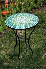 outdoor mosaic bistro table outdoor mosaic table bistro set evergreen 5 blue and green tile
