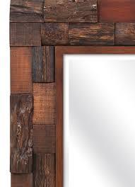 rustic lodge style wood slat mirror woodwaves
