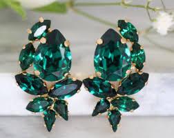 emerald earrings ear cuff earringsclimbing earrings emerald swarovski