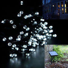 Solar Garden Tree Lights by Solar Outdoor String U0026 Fairy Lights Ebay