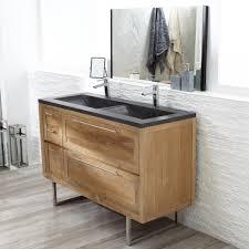 waschbecken untertisch waschtisch holz waschtische badezimmer tikamoon