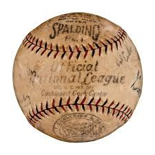 Chicago Cubs Map by Lot Detail 1929 Chicago Cubs Team Signed Baseball With 21