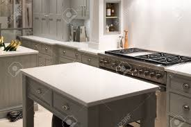 modern and contemporary kitchen with gas stove stock photo