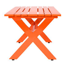 Orange Side Table Graphic Aluminum Outdoor Coffee Table Stori Modern