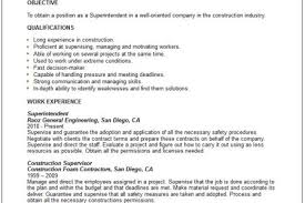 Superintendent Resume Examples by Electrical Superintendent Resume Samples Reentrycorps