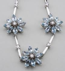 white gold flower necklace images Bidders favored fine jewelry silver at capo auction jpg