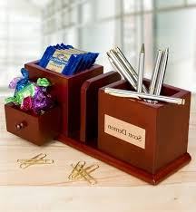 Personalized Desk Organizer Desktop Organizer With Engraved Plaque Personalized Regarding