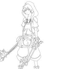 kingdom hearts coloring pages eson me
