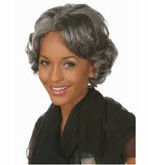 african american silver hair styles african american short silver gray wigs heat resistant synthetic