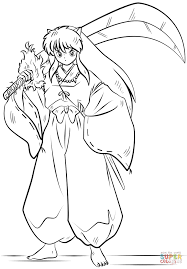 inuyasha coloring page free printable coloring pages