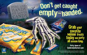 treating 36 halloween print ads scare