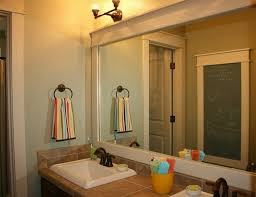 Framed Bathroom Mirrors Ideas Bathroom Country Bathroom Mirror With Vanity Cabinet Ideas
