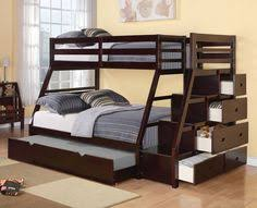 Gray Bunk Beds With Stairs Storage Drawers And Under Bed Storage - Under bunk bed storage drawers