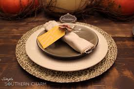 Table Setting Chargers - diy charger plates simple southern charm