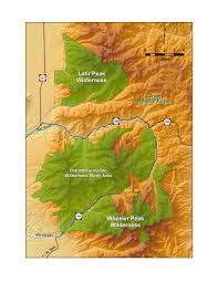 New Mexico County Map by Map Of New Mexico U0027s Wheeler Peak Latir And Wilderness Areas And