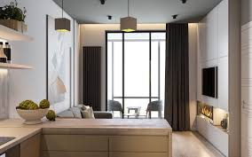 minimalist apartment design combined with modern interior decor