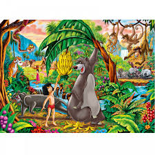 super colour maxi jungle book 104 piece puzzle jigsaw