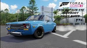 classic datsun 510 forza horizon 3 drift build widebody 1970 datsun 510 youtube