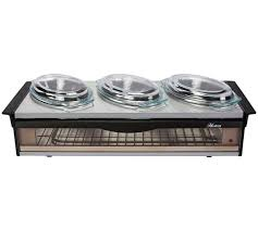 buy hostess steel buffet server silver at argos co uk your