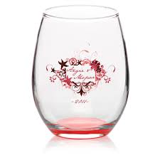 5 5oz promo arc crystal stemless wine glasses glasses with logo
