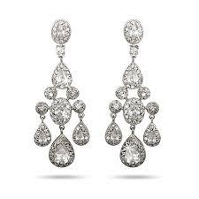 Cubic Zirconia Chandelier Earrings Carpet Style Teardrop And Oval Cz Chandelier Earrings S